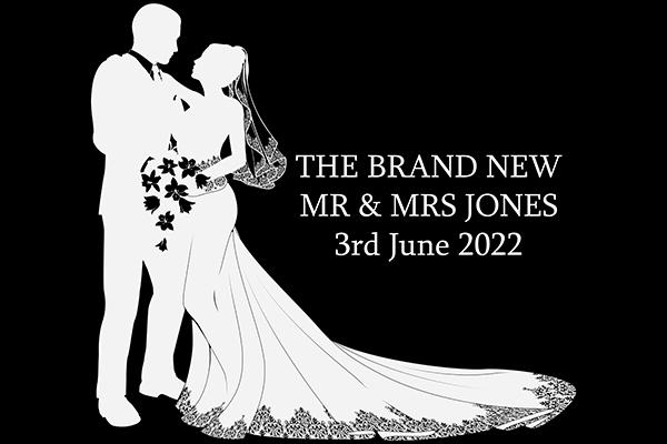 Wedding Bespoke Monogram Projection