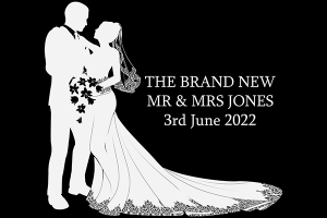 Fantabulous Media Wedding Bespoke Monogram Projection